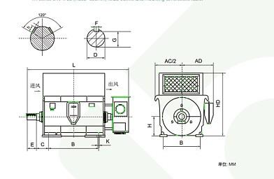 电机接法:y(接线盒内三个出线
